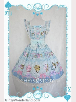 Chess Story Alice's Mad Tea Party suspender skirt