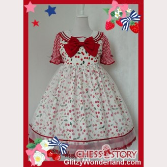 Chess Story Icy Cherry JSK & Blouse Set