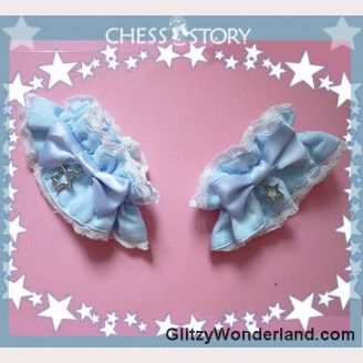 Chess Story Dreamy Starry Night cuffs