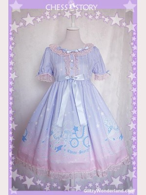 Chess Story Dreamy Starry Night Lolita Dress OP