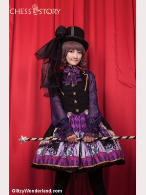 "Chess Story ""Doll Theater' suspender skirt"