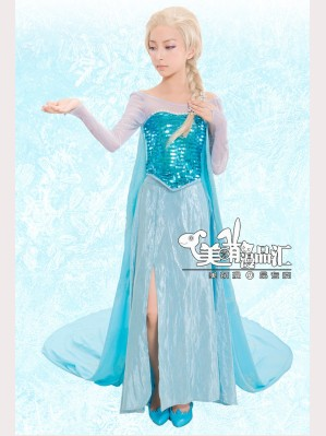 Frozen Princess Elsa Cosplay for kids 110-140