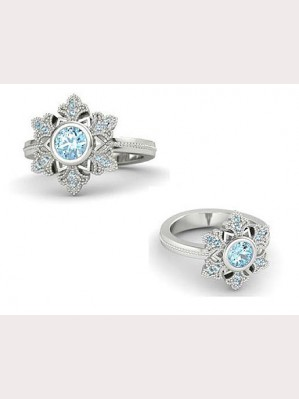 Frozen Princess Elsa platinum plating rings