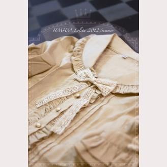 Flounced sailor collar shirt hm22