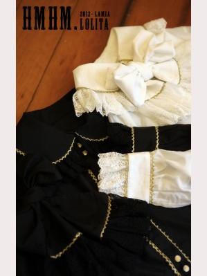 HMHM Black and white gold silk shirt