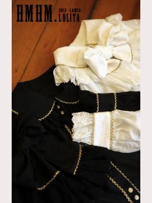 HMHM Black and white gold silk shirt