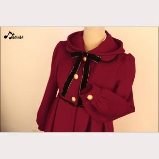 Hooded wool coat Nepalese dolls hm38