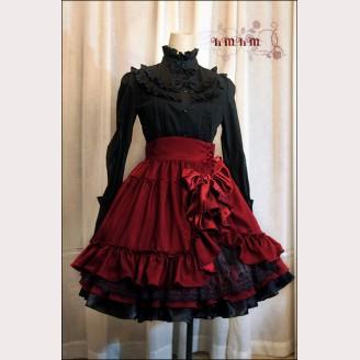 HMHM Satin waist lolita skirt hm40