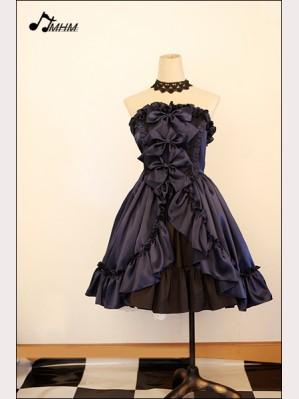Sapphire blue satin dress skirt  hm42
