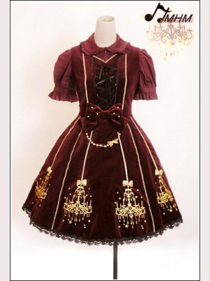 HMHM Embroidered velvet Lolita dress