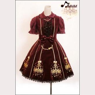 HMHM Embroidered velvet Lolita dress