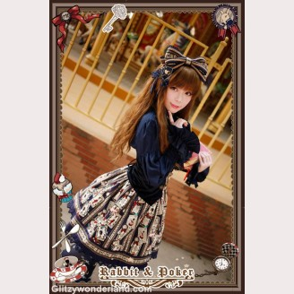 Infanta rabbit & poker lolita skirt
