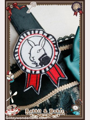 infanta Rabbit & Poker brooch