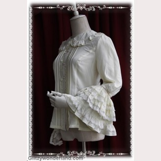 Infanta long sleeve chiffon blouse