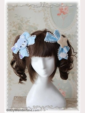 Infanta Sleeping Bear hairclips x 1 pair