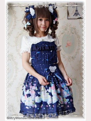 Infanta Sleeping Bear suspender skirt