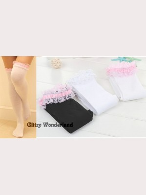 Lace top socks 4 colors