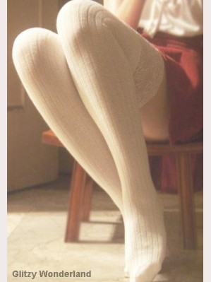 White lace top socks