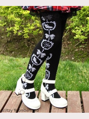 Black cat lolita socks