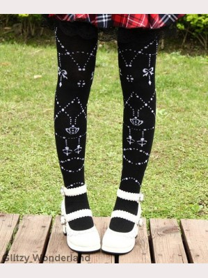 Black chains lolita socks