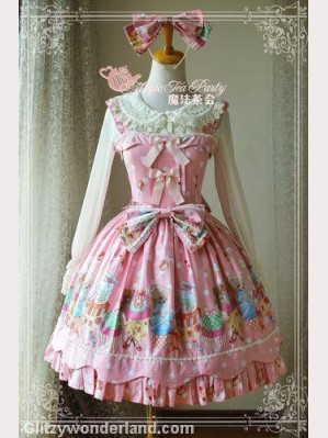 Magic tea party sweet bear lolita dress JSK