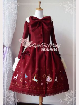 Magic tea party christmas dawn coat