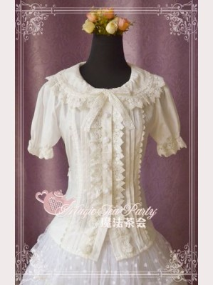Magic tea party Cultivates qi short sleeves blouse