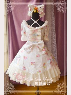 Magic tea party Sweet cake party lolita dress OP & KC Set