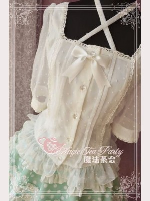Magic tea party snowy blouse