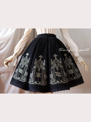 Surface spell Catherdral lolita skirt