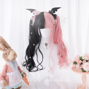 Black X Pink Split Color Wigs (WIG24)