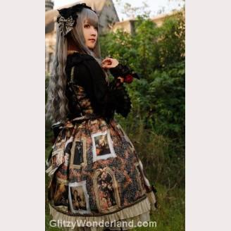 Gray Gothic Lolita Curly Hair Wig 75cm